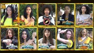 Yellow Ranger Fan Morph Compilation (Mighty Morphin Power Rangers - Wild Force) *Golden Era Tribute*
