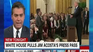 Jim Acosta lies about his assault on the female intern.  Can't be honest about anything - that's CNN