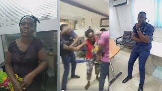 POLICEMAN BEAT FEMALE CUSTOMER OF A BANK COZ OF GHC250 - VERY BAD