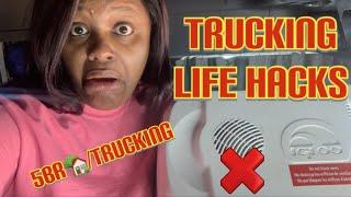Trucking Life Hacks / Female Trucker How to live out your truck