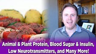 Animal & Plant Protein, Blood Sugar & Insulin, Low Neurotransmitters, and Many More! | Dr. J Q & A