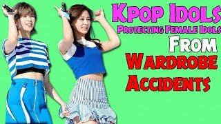 Kpop Idols Protecting Female Idols From Wardrobe Accidents [FanClub Kpop]