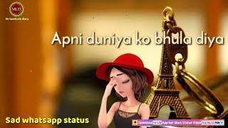 Teri khatir Sabkuch bhula diya???????? female version sad ????whatsapp status video