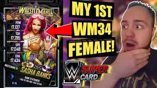 TEAM ROAD TO GLORY REWARDS! GETTING MY 1ST WRESTLEMANIA 34 FEMALE! Noology WWE SuperCard Season 4!
