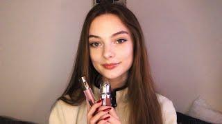 ASMR Applying Lipgloss & Whats In My Makeup Bag ????