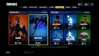 fortnite item shop 26th august 2018 female raven out