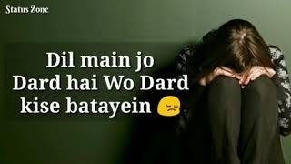 Heart touching line // sad female  version  // sad what's  app status  video.
