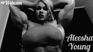 Aleesha Young Posing Show Webcam | Muscle Woman | Female Bodybuilder | Fitness Model | Bodybuilding