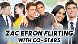 Zac Efron Can't Stop Flirting With His Female Co-stars ZENDAYA ANNA KENDRIC ALEXANDRA DADDARIO