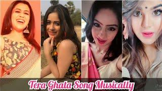 Tera Ghata Female Version Tik Tok Musically Videos | Neha Kakkar , Jannat zubair