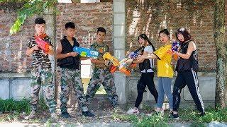 3T Nerf War : Squad Alpha Female Police Task Nerf guns Rescue Team S.W.A.T Girl