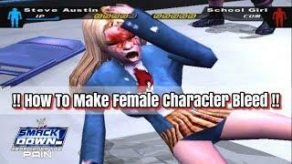 How To Make Female Character Bleed In WWE SmackDown! Here Comes The Pain