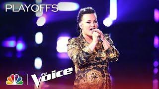 """Natasia GreyCloud Performs """"God Is a Woman"""" - The Voice 2018 Live Playoffs Top 24"""