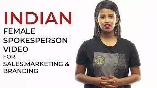 English Indian Female Spokesperson Video for Branding,Testimonial