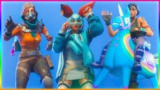 *NEW* Fortnite LEAKED Skins With Leaked Emotes..! (Female Giddy Up, Renegade Raider 2, Cute Rabbit)