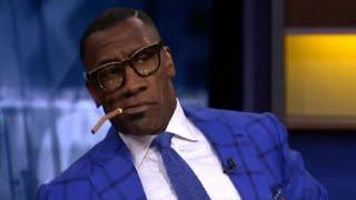 Shannon Sharpe checks female cohost for suggesting Kareem hunt to lose his job