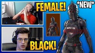 "Streamers React To *NEW* FEMALE ""BLACK KNIGHT"" Skin in Fortnite"