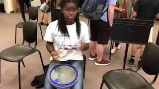 Amazing female drummer plays a snare solo on Xymox Snare Pad.
