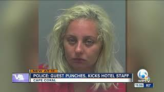 Female hotel guest in Florida charged with kicking, punching staff
