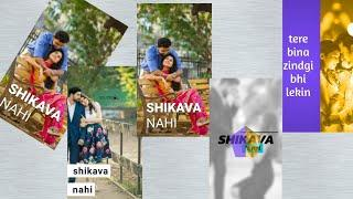 ????????Tere Bina....female version Full screen Whatsapp status video???? | new love status