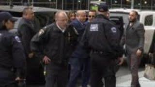 Weinstein arrives for hearing in sex assault case