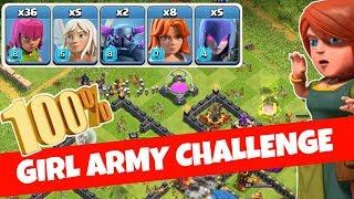 FEMALE TROOP ONLY CHALLENGE.CLASH OF CLANS INDIA.