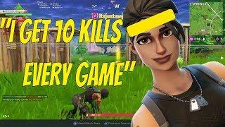 Female Ninja Trys To Show Off - Fortnite Battle Royale Gameplay