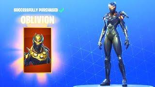 *NEW* FEMALE OMEGA SKIN!! (Oblivion) Fortnite Battle Royale
