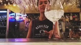Female Bartender Show Off