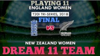 EN-W vs NZ-W FINAL PLAYING 11 | TRI SERIES | DREAM 11 TEAM (ENGLAND WOMEN VS NEW ZEALAND WOMEN)