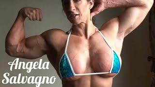 Angela Salvagno | Muscle Woman | Sexy Girl | Bodybuilding Show | Fitness Motivation | Female Muscle
