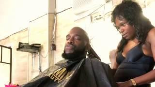That one time this female barber was being frisky cutting my hair at the barbershop!