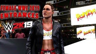 WWE 2K19 All Female Entrances