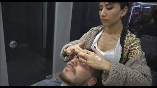 ASMR Turkish Woman Barber  Face, Head and Body Massage 235