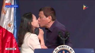 Duterte kisses OFW based in South Korea