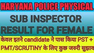 Haryana police female SI result out   आज केवल इतने हुए पास,  देखें एक ओर जरुरी सूचना    STWS