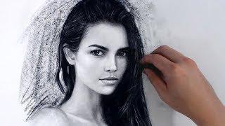 Female Girl Portrait Art Video - Aug 15 Drawing