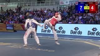 Quarterfinal Female -57 kg | Jade Jones (GBR) vs Jolanta Tarvida (LAT)