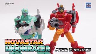 Fembot transfomer(3) : Transformer Power of the prime MOONRACER / NOVASTAR robot Video Review!