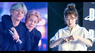 BTS's Jimin And V Show Support For This Female Idol During Her Performance