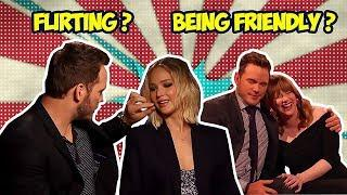 CHRIS PRATT WITH HIS FEMALE CO-STARS | FLIRTING OR BEING FRIENDLY?