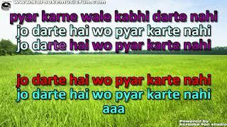 Pyaar Karne Waale Kabhi Darte Nahi Hai Semi Vocal Female Video Karaoke WIth Lyrics