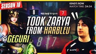Geguri (#1 Female PRO Player) Locked In Zarya from Harbleu and then this happened.. [S10]