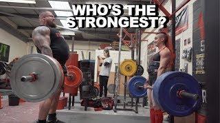 Worlds Strongest Man .VS. Worlds Strongest Women!