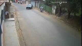 Liveleak com   Female Motorcyclist Narrowly Avoids Out of Control Car