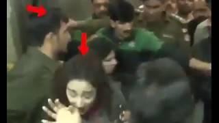 Maryam nawaz male security guards pushed female out from elevator