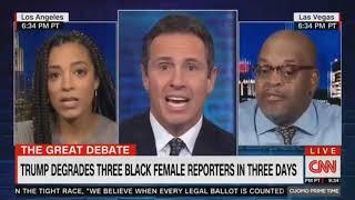 Trump Degrades Three Black Female Reporters in Three Days Niger Innis and Angela Rye With ChrisCuomo