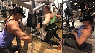Working out in Flensburg / Germany - IFBB Pro female bodybuilder Helle Trevino