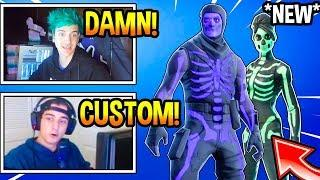 "Streamers React To *NEW* ""FEMALE SKULL TROOPER"" Skin! *CUSTOMIZE* Fortnite EPIC & FUNNY Moments"