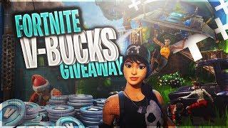 Fortnite V-Bucks Giveaway Live! Free V BUCK. PRO Fortnite Builder! New FEMALE OMEG (BR)